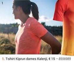 T-shirt kiprun dames kalenji