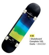 Skateboard complete 100, oxelo-Oxelo