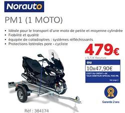 Remorque porte-moto pm1