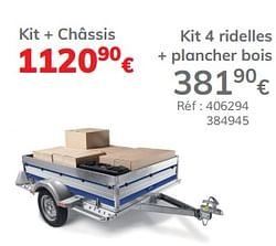 Kit 4 ridelles + plancher bois remium 145 evo