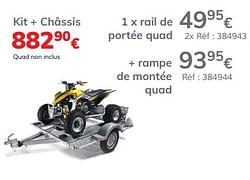 Rail de portée quad châssis remium 145 evo