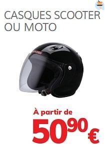 Casques scooter ou moto