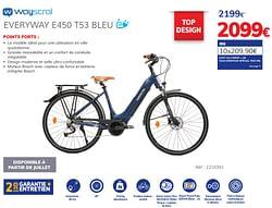 Everyway e450 t53 bleu