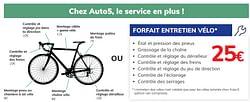 Forfait entretien vélo