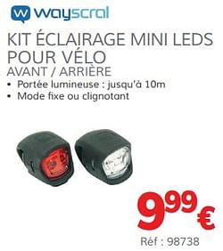 Kit éclairage mini leds pour vélo