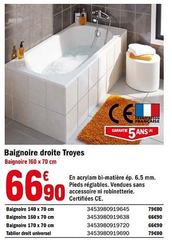 Promotion Brico Depot Baignoire Droite Troyes Produit Maison Brico Depot Cuisine Salle De Bain Valide Jusqua 4 Promobutler
