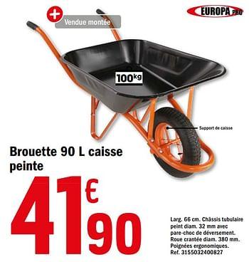 Promotion Brico Depot Brouette 90 L Caisse Peinte Produit Maison Brico Depot Construction Renovation Valide Jusqua 4 Promobutler