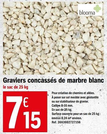 Promotion Brico Depot Graviers Concasses De Marbre Blanc Blooma Jardin Et Fleurs Valide Jusqua 4 Promobutler