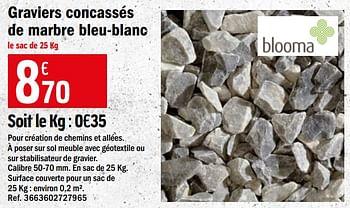 Promotion Brico Depot Graviers Concasses De Marbre Bleu Blanc Blooma Jardin Et Fleurs Valide Jusqua 4 Promobutler