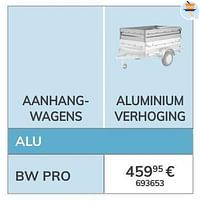 Aluminium verhoging-BW Trailers