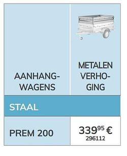 Metalen verhoging