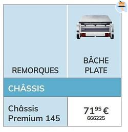 Bâche plate châssis premium 145