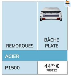 Bâche plate p1500