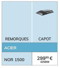 Capot nor 1500