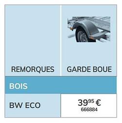 Garde boue bw eco
