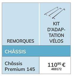 Kit d`adaptation vélos châssis premium 145