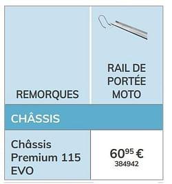 Rail de portée moto châssis premium 115 evo
