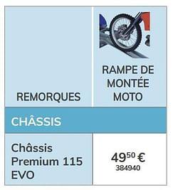 Rampe de montée moto châssis premium 115 evo