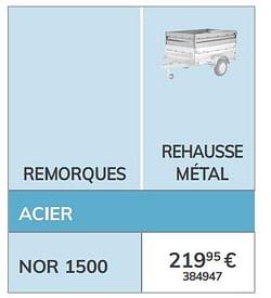 Rehausse métal nor 1500