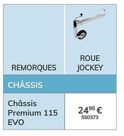 Roue jockey châssis premium 115 evo
