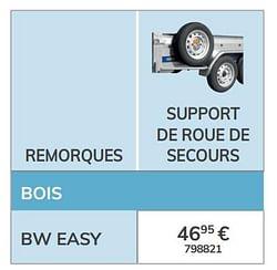Support de roue de secours bw easy