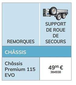 Support de roue de secours châssis premium 115 evo
