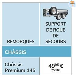 Support de roue de secours châssis premium 145