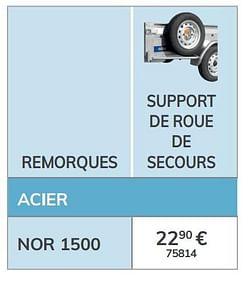 Support de roue de secours nor 1500