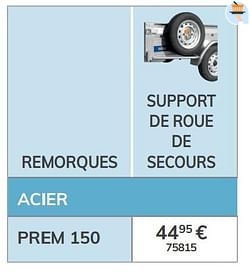 Support de roue de secours prem 150