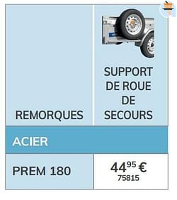 Support de roue de secours prem 180