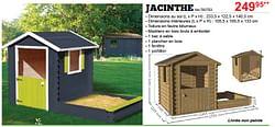 Maisons en bois pour enfants jacinthe