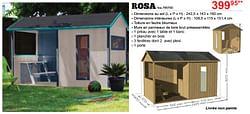 Maisons en bois pour enfants rosa