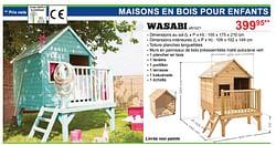 Maisons en bois pour enfants wasabi