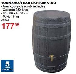 Tonneau à eau de pluie vino
