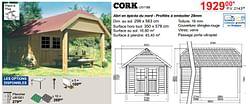 Abris de jardin en bois cottage cork