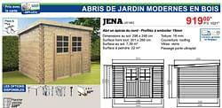 Abris de jardin modernes en bois jena