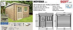 Abris de jardin modernes en bois nevers