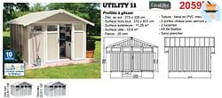 Abris de jardin en résine utility 11