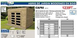 Abris de jardin modernes en bois capri