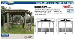 Pavillons de jardin en bois rossart