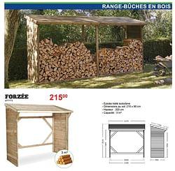 Range-bûches en bois forzée