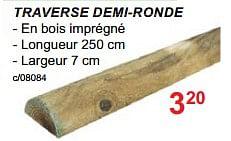 Clôtures en bois lustin traverse demi-ronde