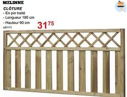 Clôtures en bois melinne clôture