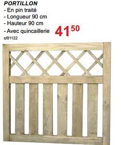 Clôtures en bois melinne portillon