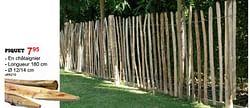 Clôtures en bois piquet