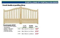 Portillons et portails en bois portail double givry