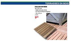 Terrasses en bois dalles en bois