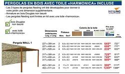 Pergolas en bois avec toile harmonica incluse pergola wall 1
