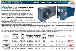 Pompes à chaleur inverter 20-40-70