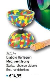 Diabolo harlequin med. veelkleurig-Huismerk - De Speelvogel